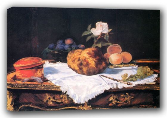 Manet, Edouard: The Brioche. Fine Art Canvas. Sizes: A3/A2/A1 (00685)